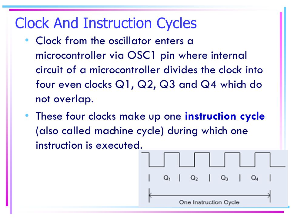 Clock And Instruction Cycles