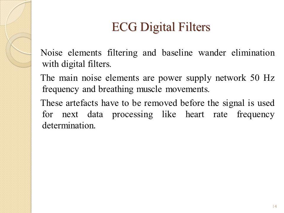 ECG Digital Filters