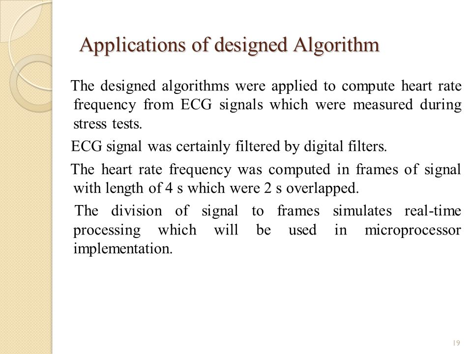 Applications of designed Algorithm