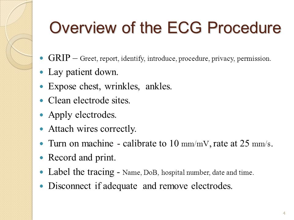 Overview of the ECG Procedure