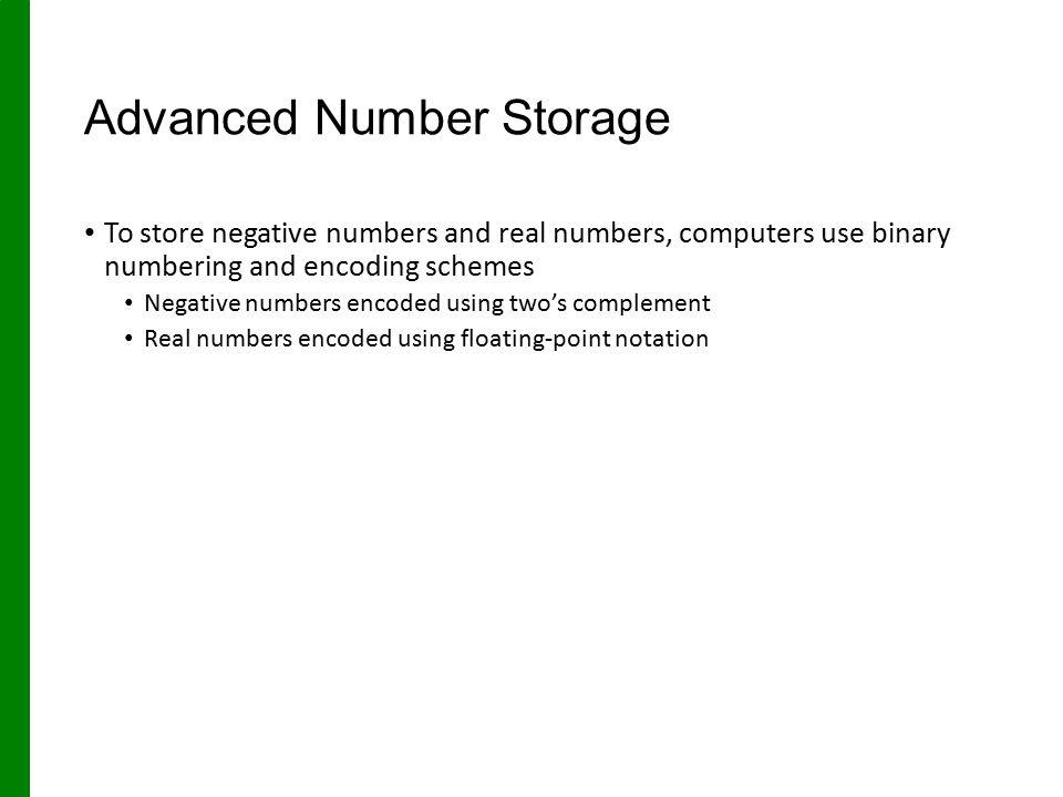 Advanced Number Storage