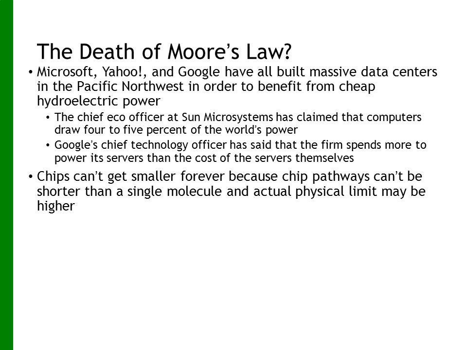 The Death of Moore's Law