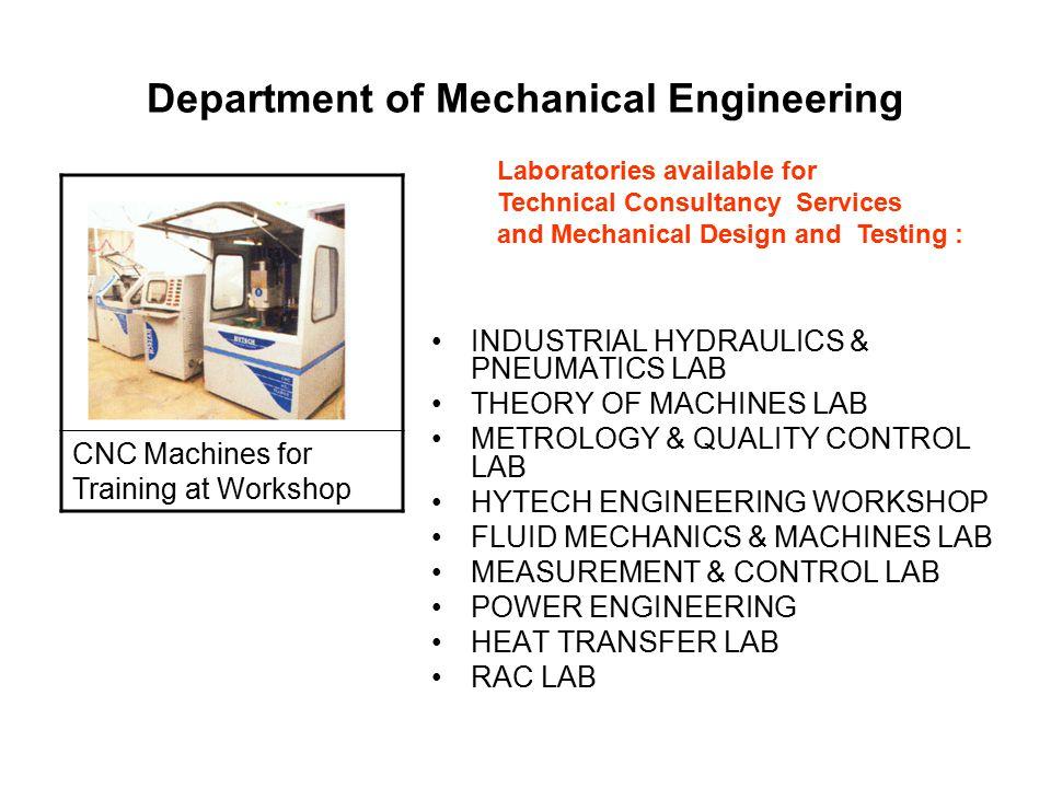 Department of Mechanical Engineering