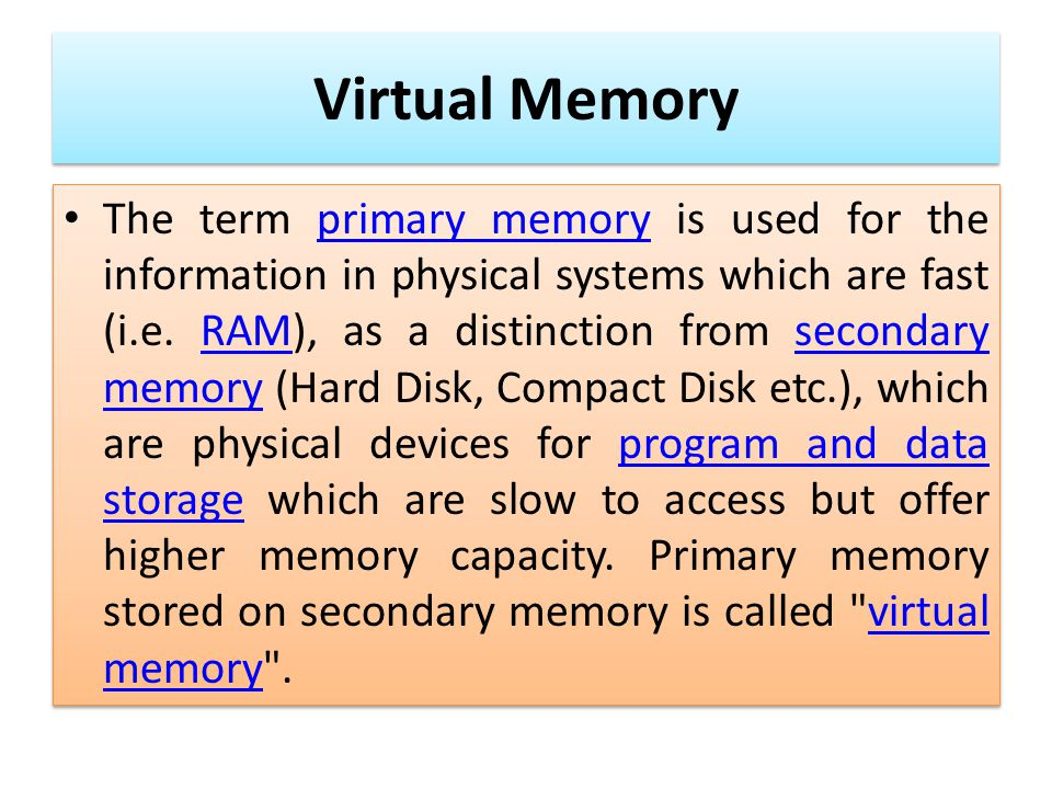 Research papers on virtual memory