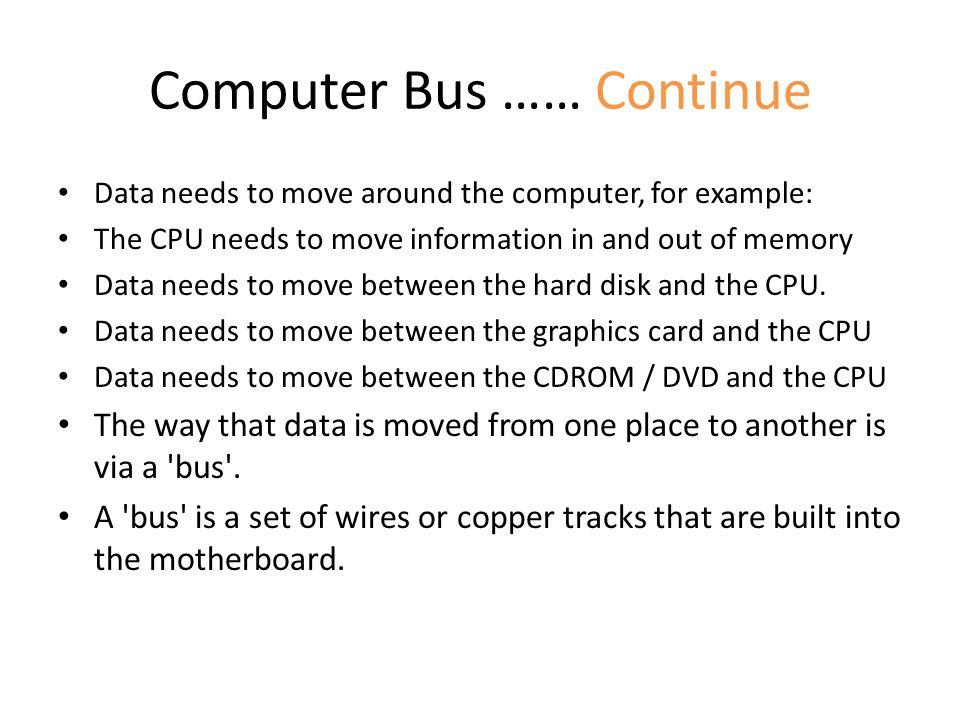 Computer Bus …… Continue