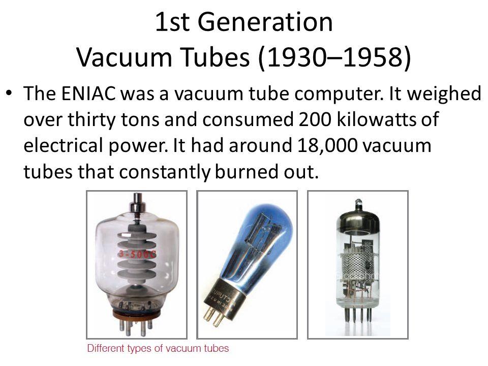 1st Generation Vacuum Tubes (1930–1958)
