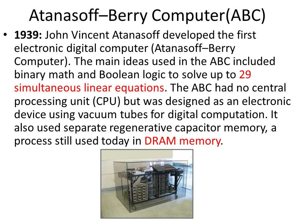 Atanasoff–Berry Computer(ABC)
