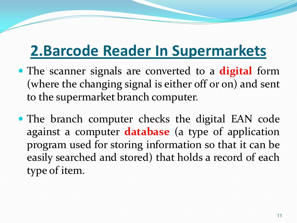 2.Barcode Reader In Supermarkets
