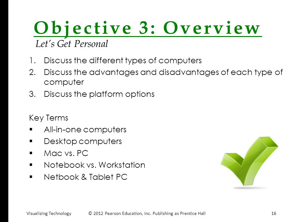 Objective 3: Overview Let's Get Personal