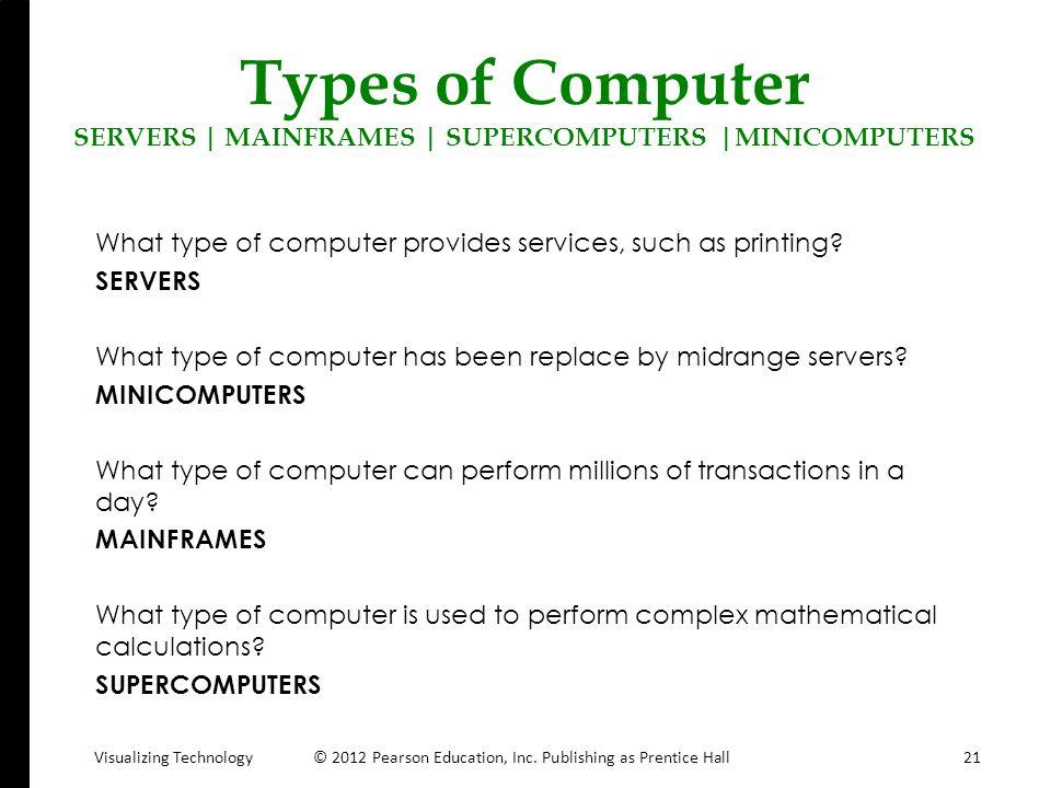 Types of Computer SERVERS | MAINFRAMES | SUPERCOMPUTERS |MINICOMPUTERS