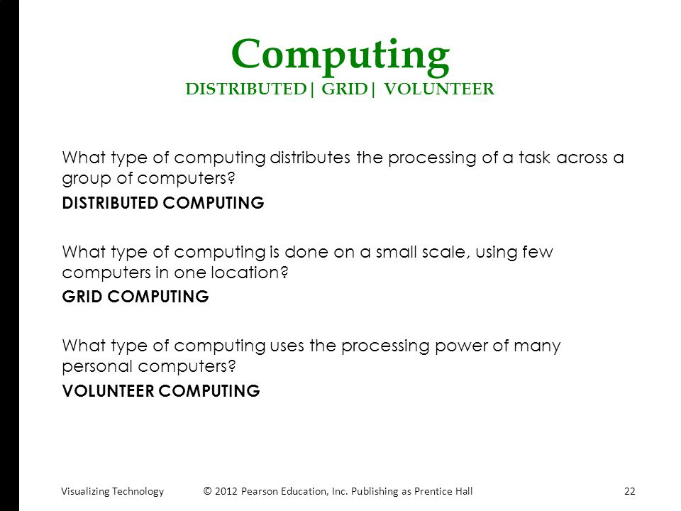 Computing DISTRIBUTED| GRID| VOLUNTEER