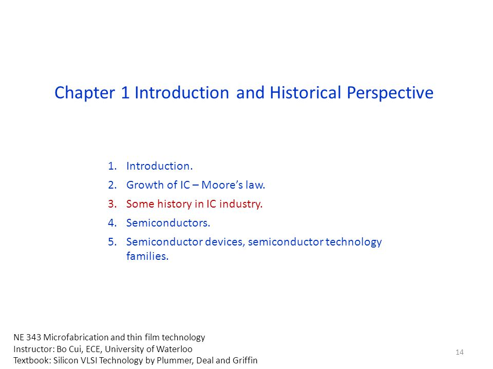 Chapter 1 Introduction and Historical Perspective