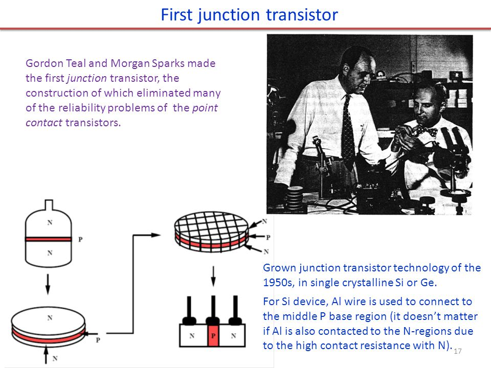 First junction transistor
