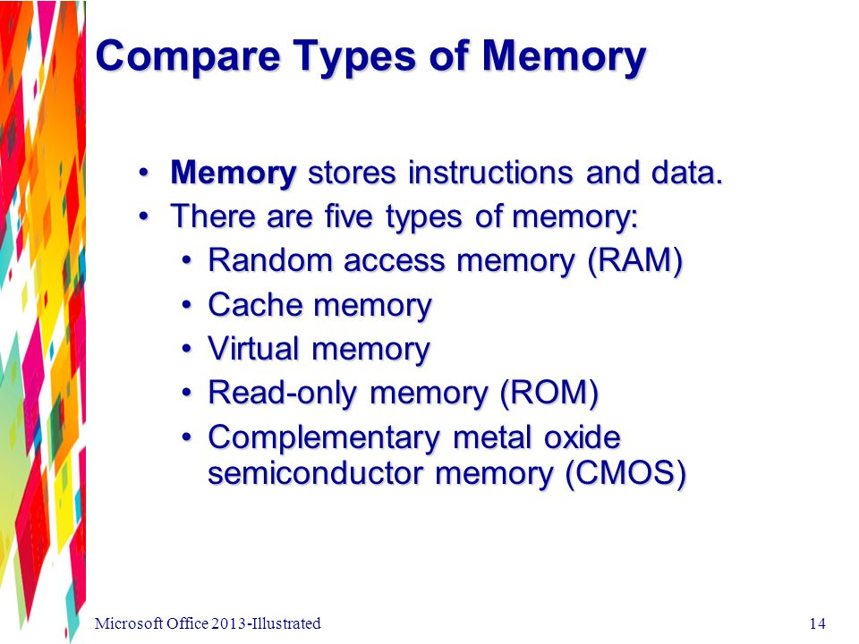 Compare Types of Memory