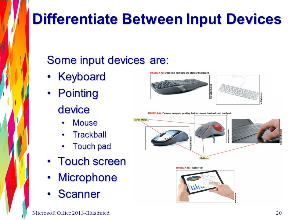 Differentiate Between Input Devices