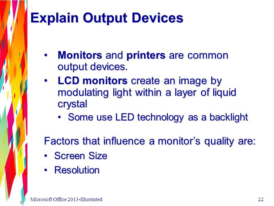 Explain Output Devices