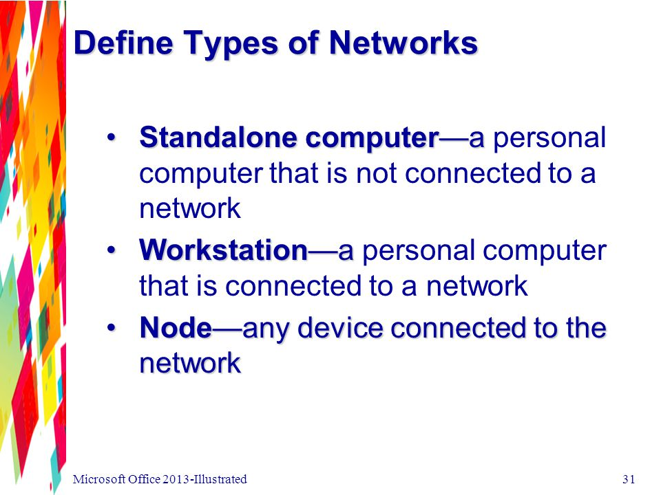 Define Types of Networks