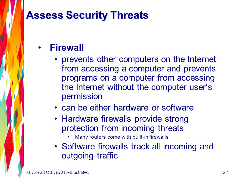 Assess Security Threats