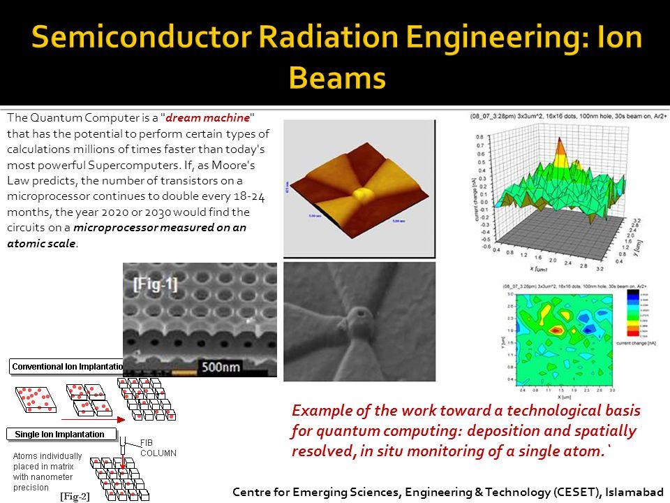 Semiconductor Radiation Engineering: Ion Beams