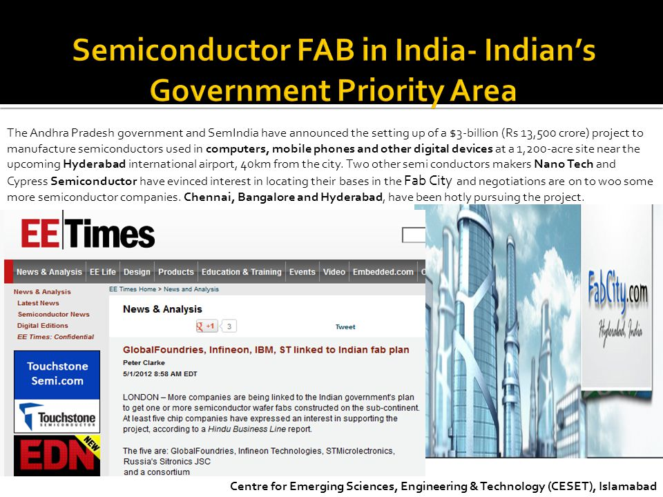 Semiconductor FAB in India- Indian's Government Priority Area