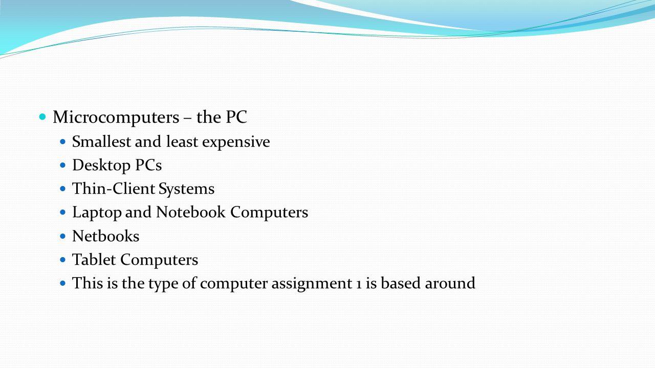 Microcomputers – the PC