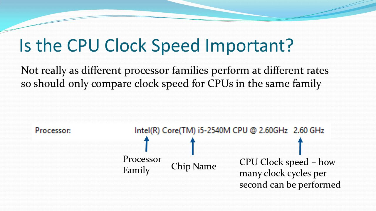 Is the CPU Clock Speed Important