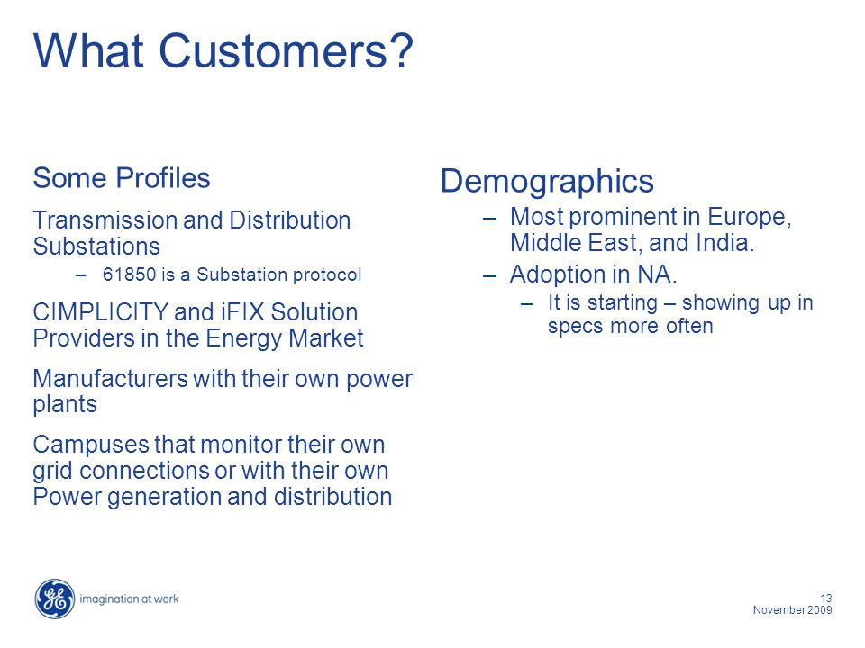 What Customers Demographics Some Profiles