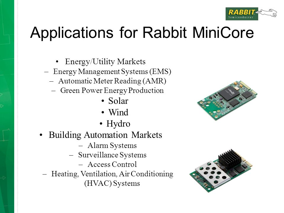 Applications for Rabbit MiniCore