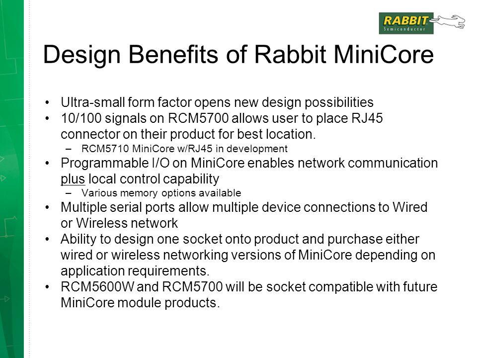 Design Benefits of Rabbit MiniCore