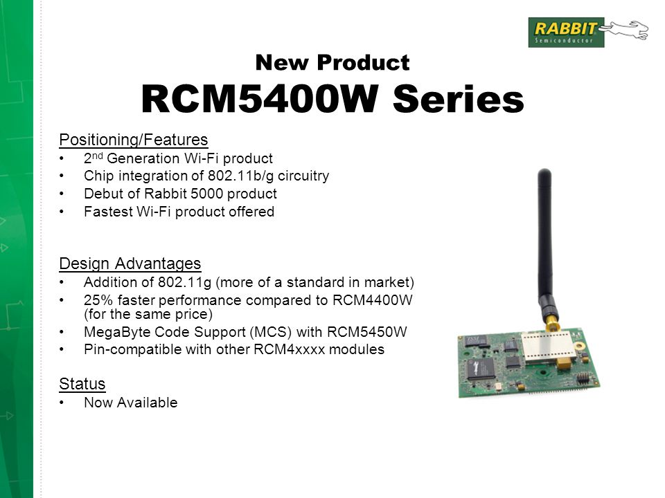 New Product RCM5400W Series