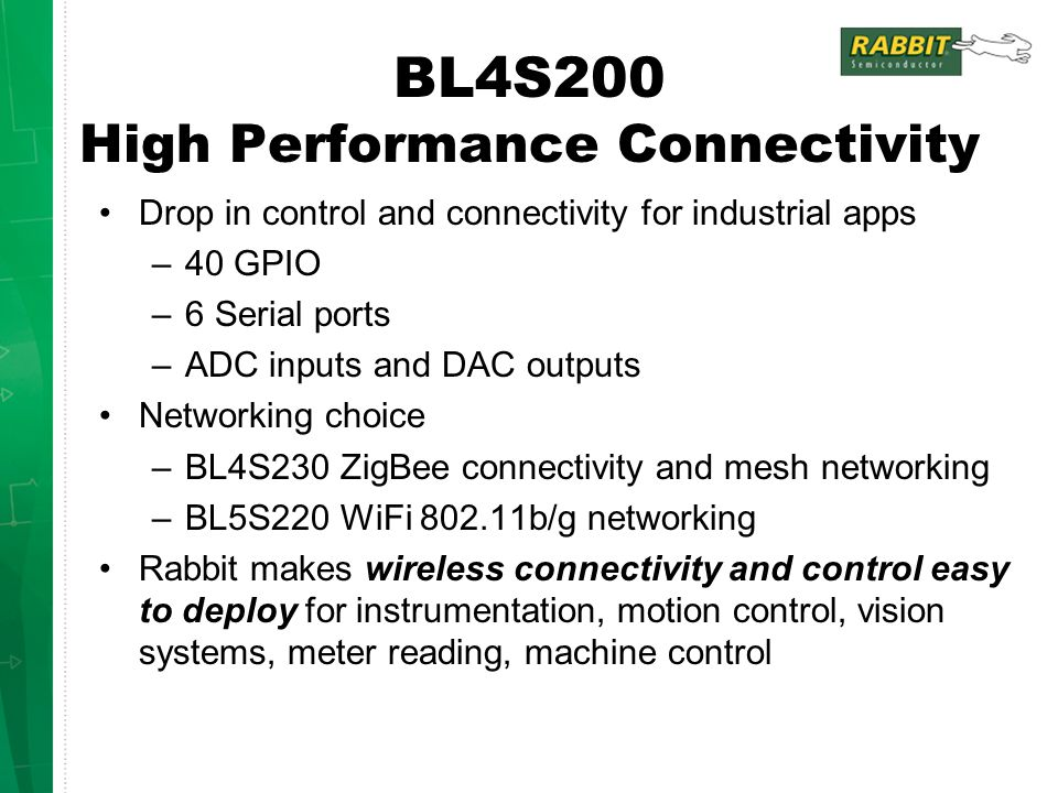 BL4S200 High Performance Connectivity