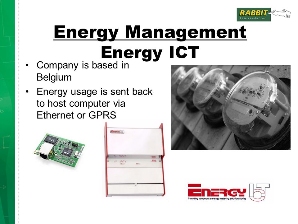 Energy Management Energy ICT
