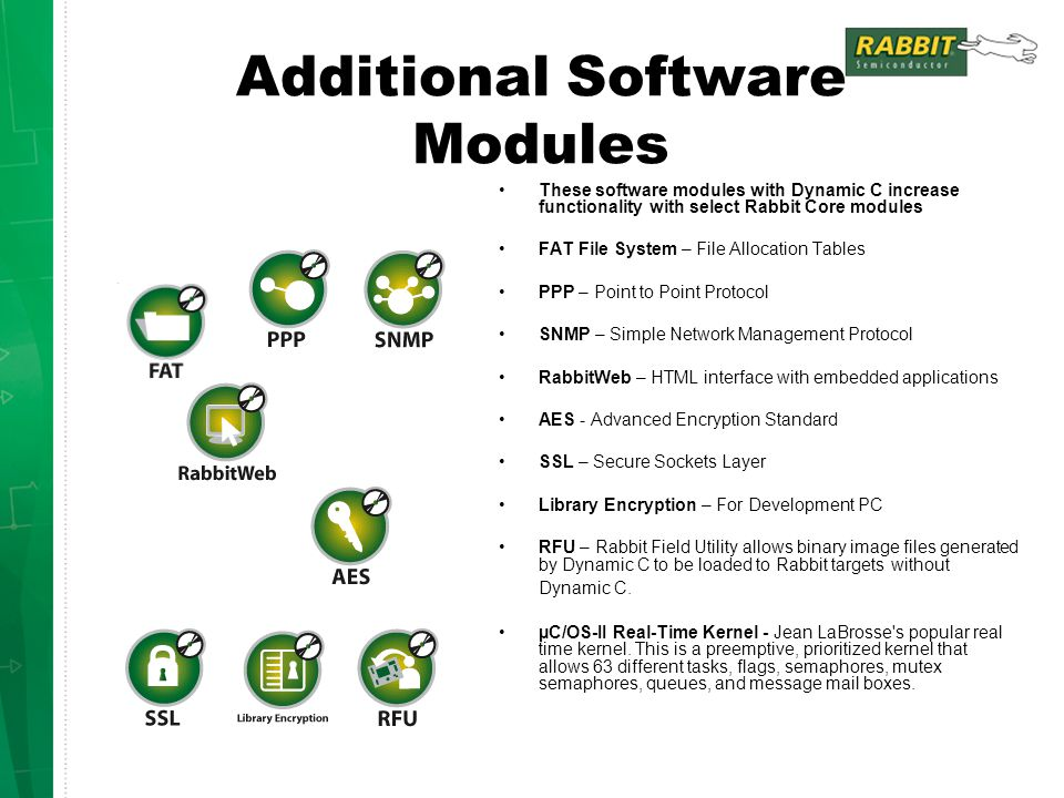 Additional Software Modules