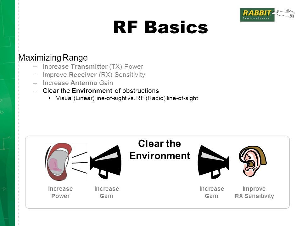 RF Basics Clear the Environment Maximizing Range