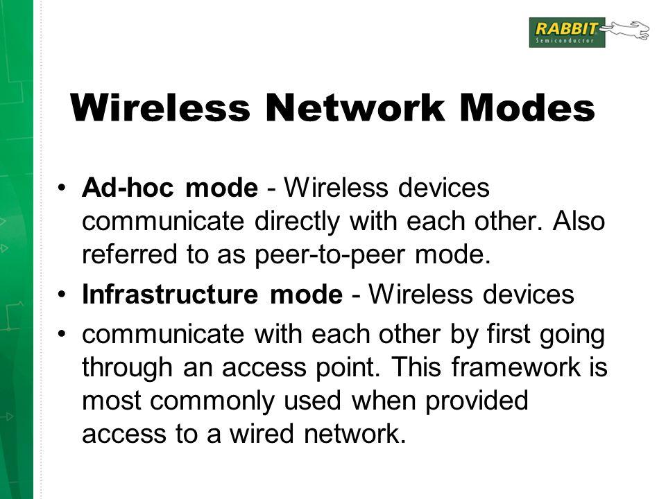 Wireless Network Modes