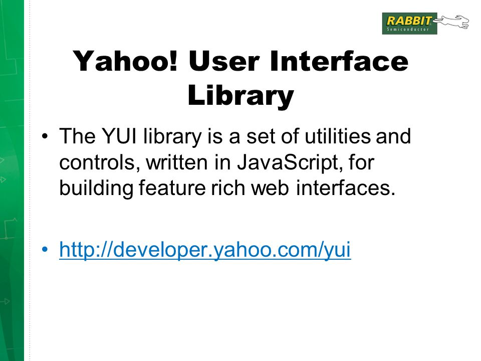 Yahoo! User Interface Library