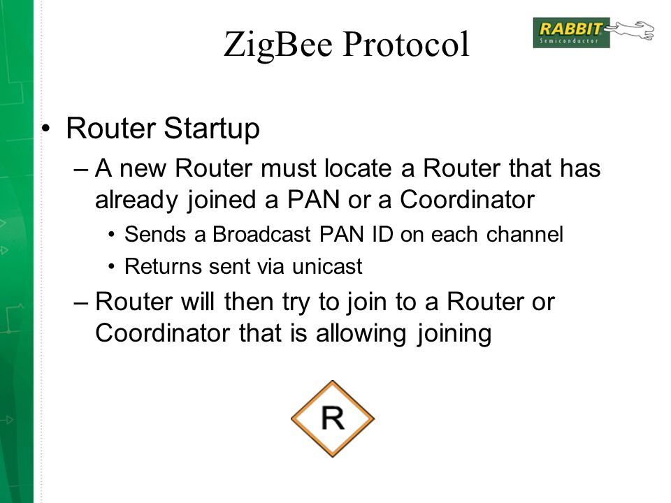 ZigBee Protocol Router Startup