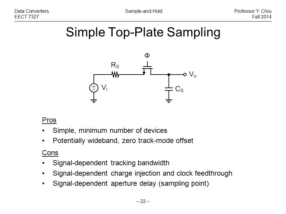 Simple Top-Plate Sampling