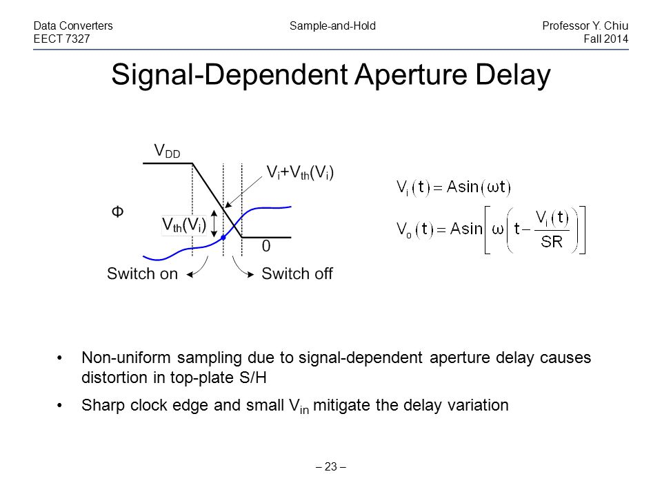 Signal-Dependent Aperture Delay