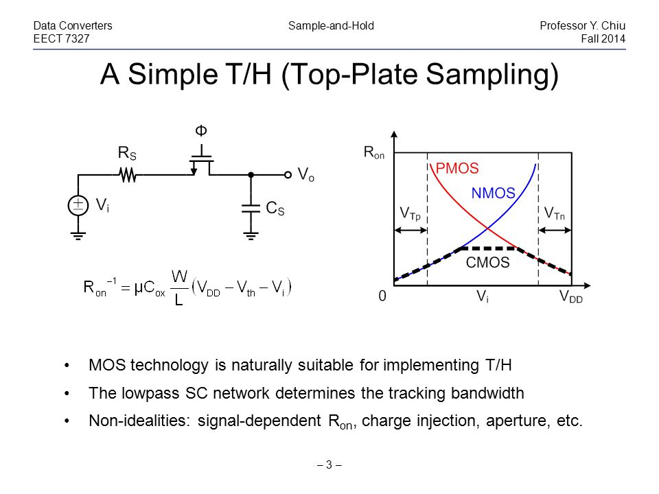 A Simple T/H (Top-Plate Sampling)