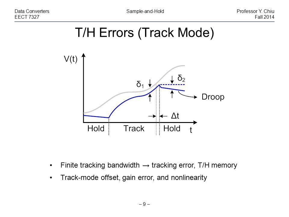 T/H Errors (Track Mode)