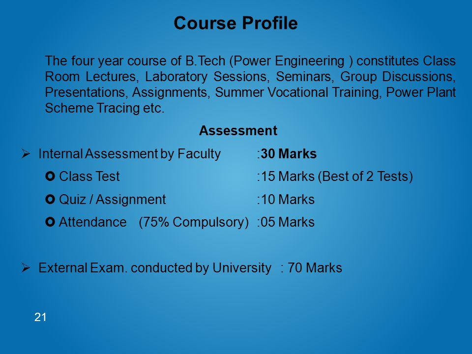 Course Profile