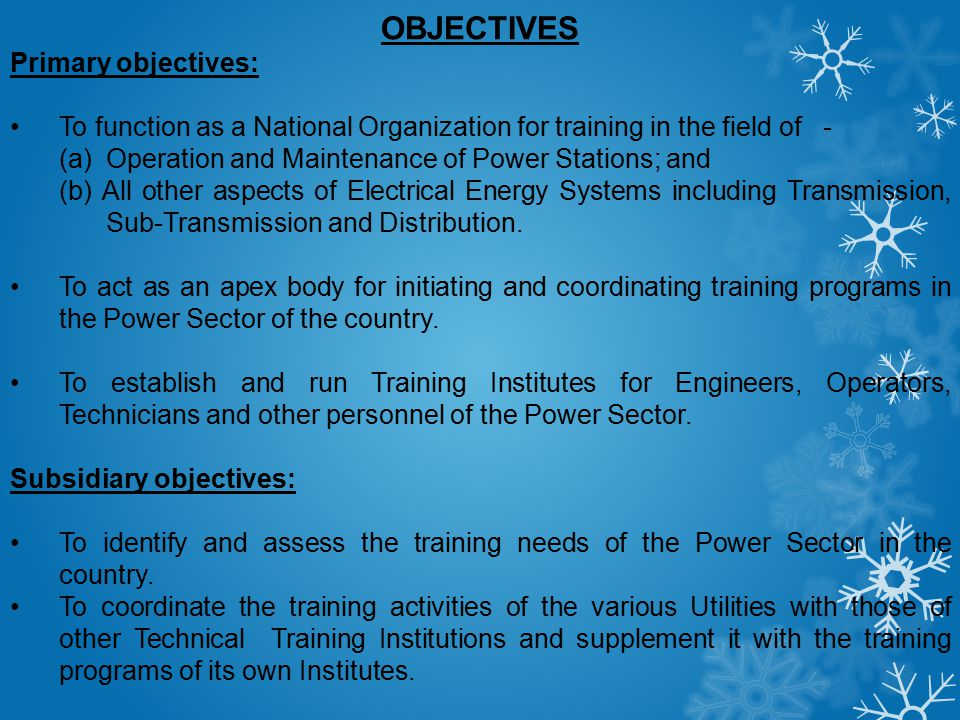 OBJECTIVES Primary objectives: