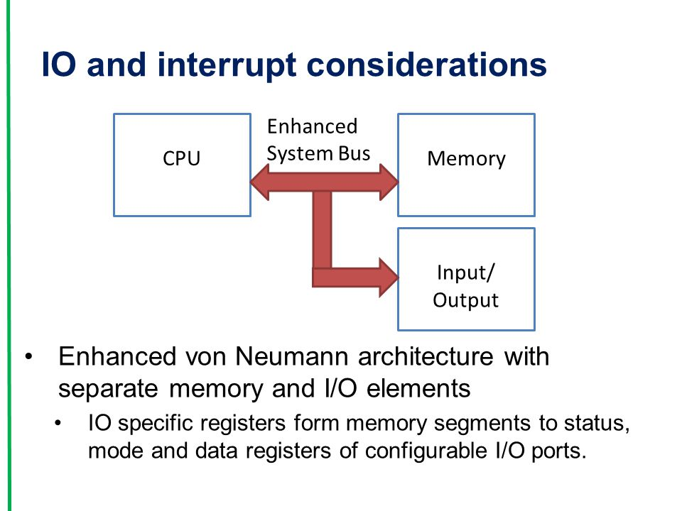 IO and interrupt considerations