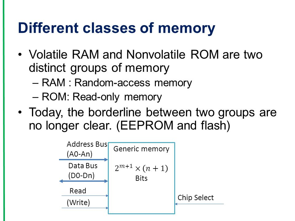 Different classes of memory