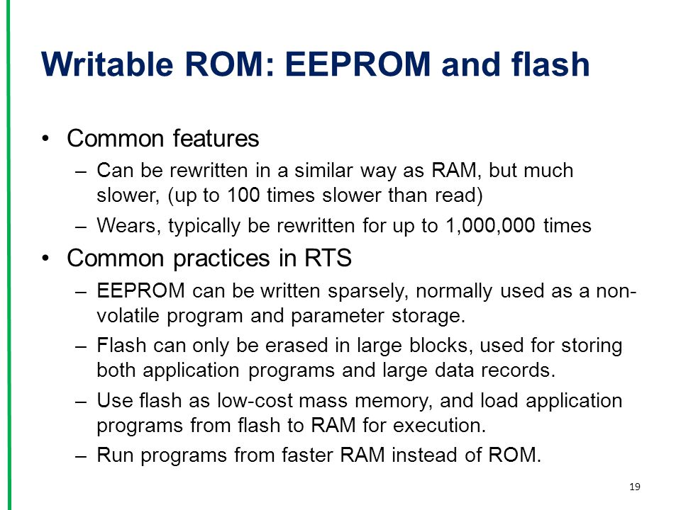 Writable ROM: EEPROM and flash