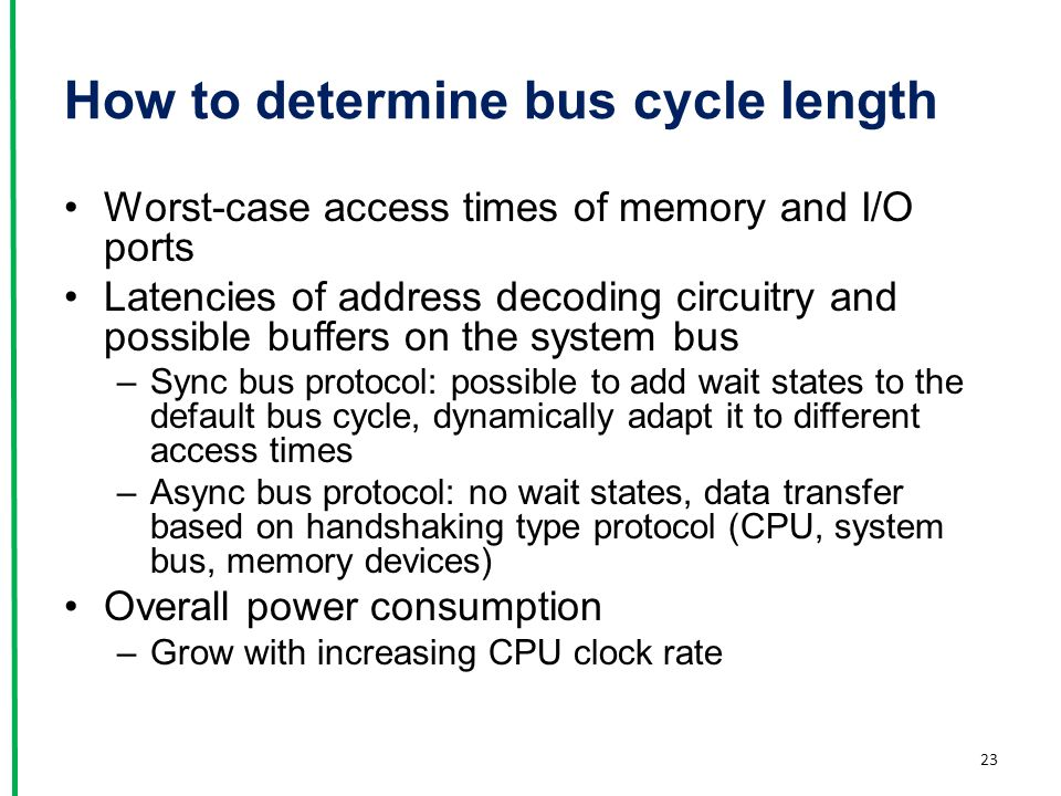 How to determine bus cycle length
