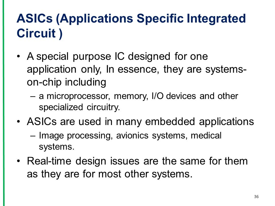 ASICs (Applications Specific Integrated Circuit )