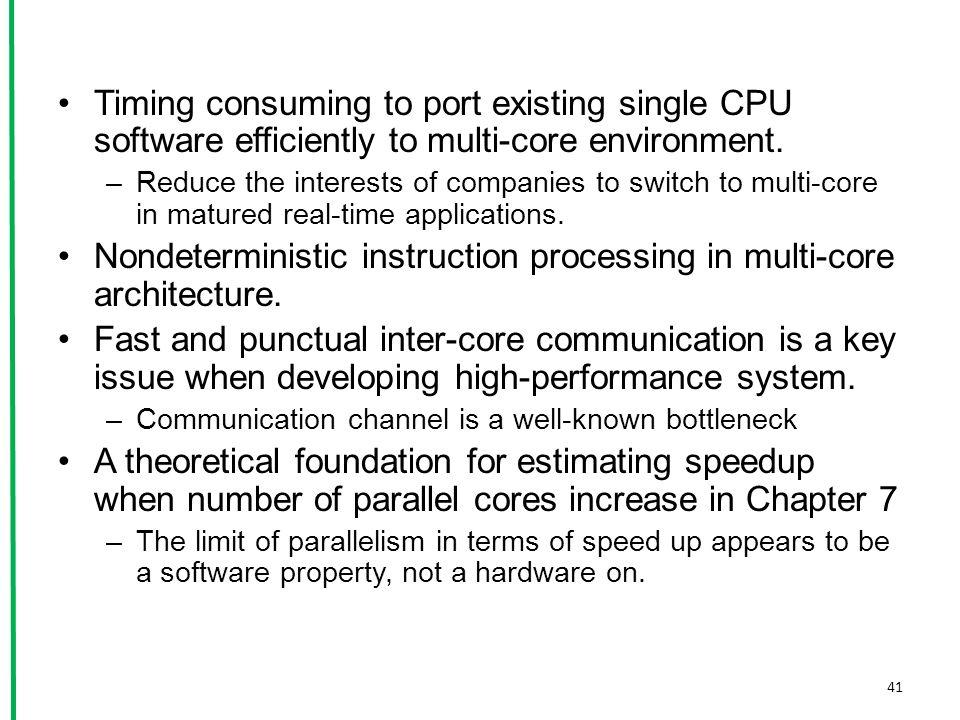 Nondeterministic instruction processing in multi-core architecture.