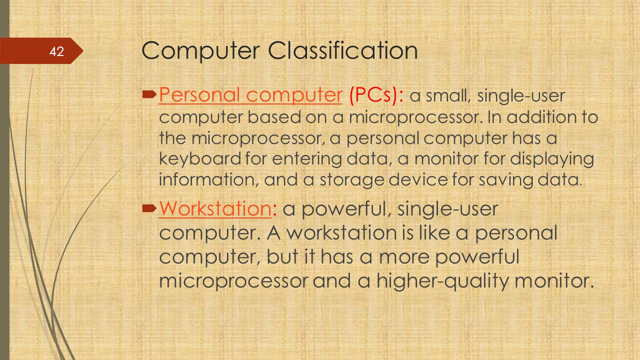 Computer Classification